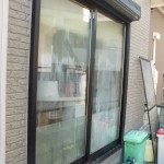 テラス窓 ペアガラス内部結露でガラス交換工事  遮熱性能に優れたガラスに交換