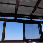 サンルーム工事 屋根遮熱パネル ガラス強化ガラス使用
