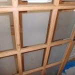 室内建具ガラス交換工事  デザインガラスの交換