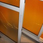 熱割れガラス交換  防犯合わせガラスの交換工事