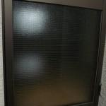 ガラスのひび割れ ドアのガラス交換工事