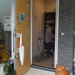 玄関ドア網戸 玄関ドアリフォーム 暑さ対策