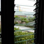 窓のリフォーム 出窓 通気の良い窓 硝子ルーバー