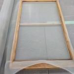窓リフォーム 網戸貼り替え 木製網戸