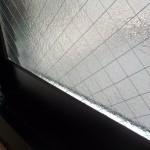 ガラス交換工事 割れたガラスを交換