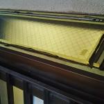 出窓の屋根のをガラス交換する ガラスの交換 ヒビの入ったガラスの処理
