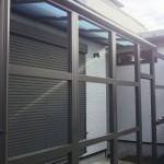 庭のスペース活用 防犯性アップ サンルーム 防犯合わせ硝子のドア取付け