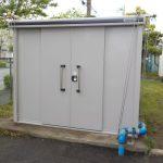 物置き 収納庫設置 雨・強風対策