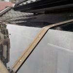 ベランダ屋根 テラス 屋根パネル交換