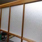 ガラス交換 建具のガラスを割れても安心な樹脂パネルに交換