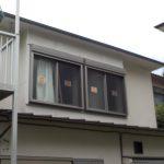 窓の工事 シャッターサッシ取付け シャッター付きで安心な窓