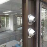 ガラス工事 ダクト用パネル施工 窓リフォーム ガラスに穴をあける