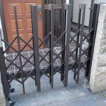 家の門の工事 伸縮門扉を交換しました