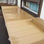 ウッドデッキ 人工木デッキで快適・物干しスペース  物干し場を作る