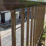 フェンス 庭のフェンス交換